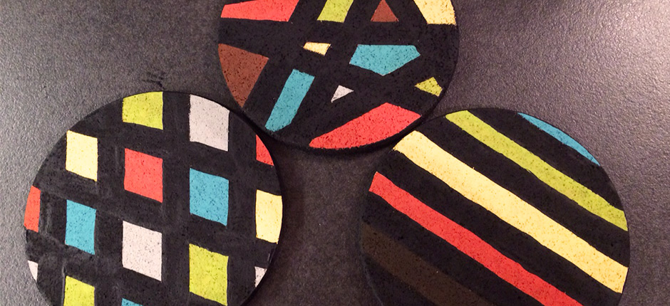 triptyque en li ge l 39 atelier du tricot. Black Bedroom Furniture Sets. Home Design Ideas